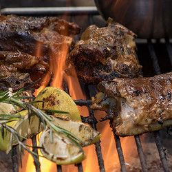 Lamb Necks on the braai