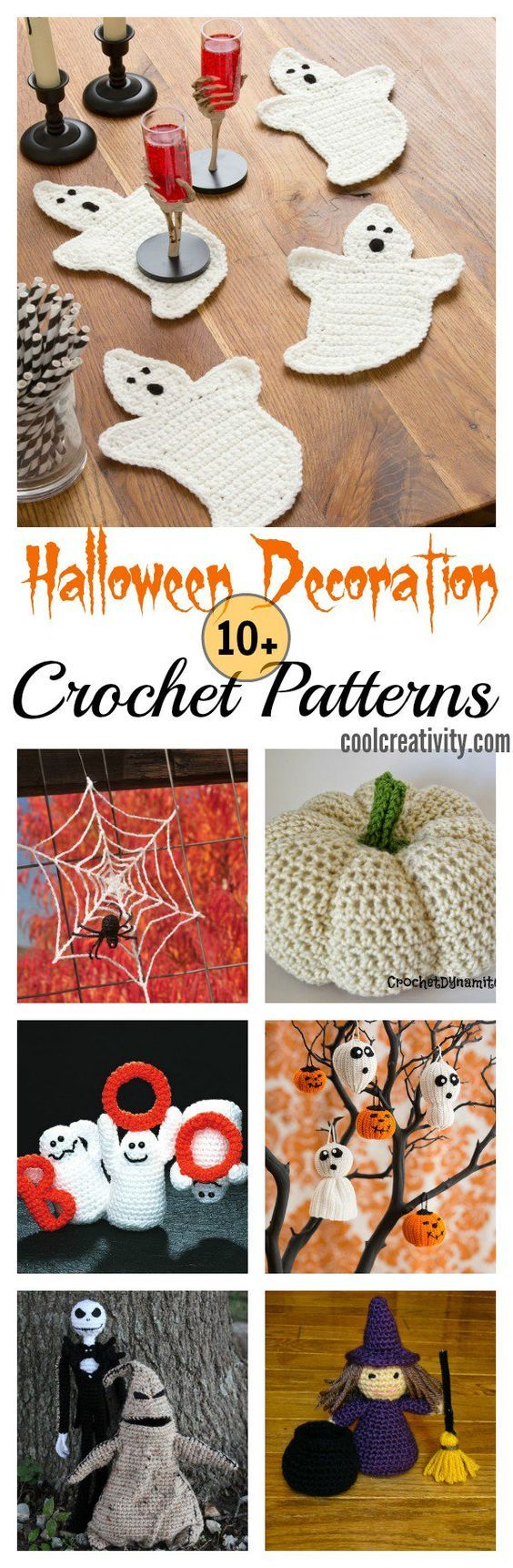 10+ Halloween Decoration Free Crochet Patterns | Ganchillo, Tejido y ...