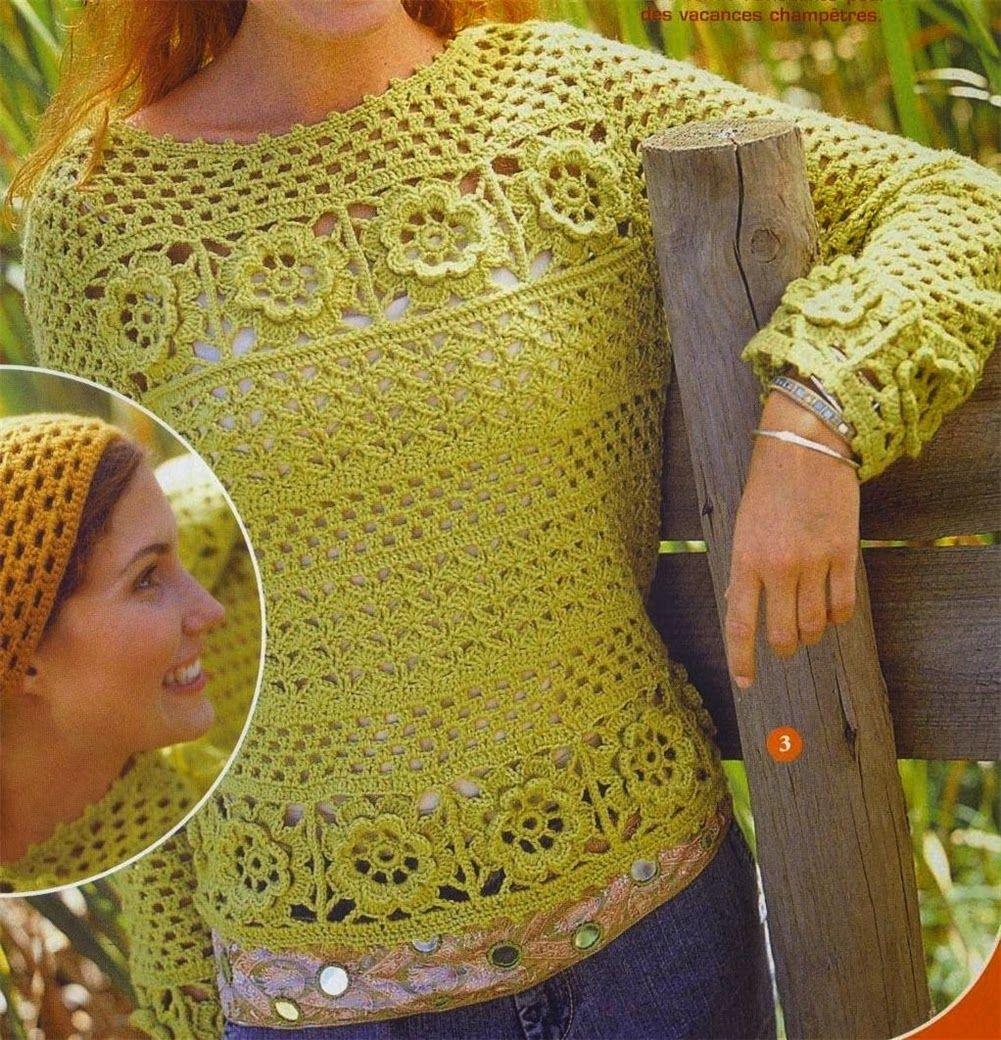 Crochetemoda: Blusas Amarelas de Crochet   Blusas   Pinterest ...