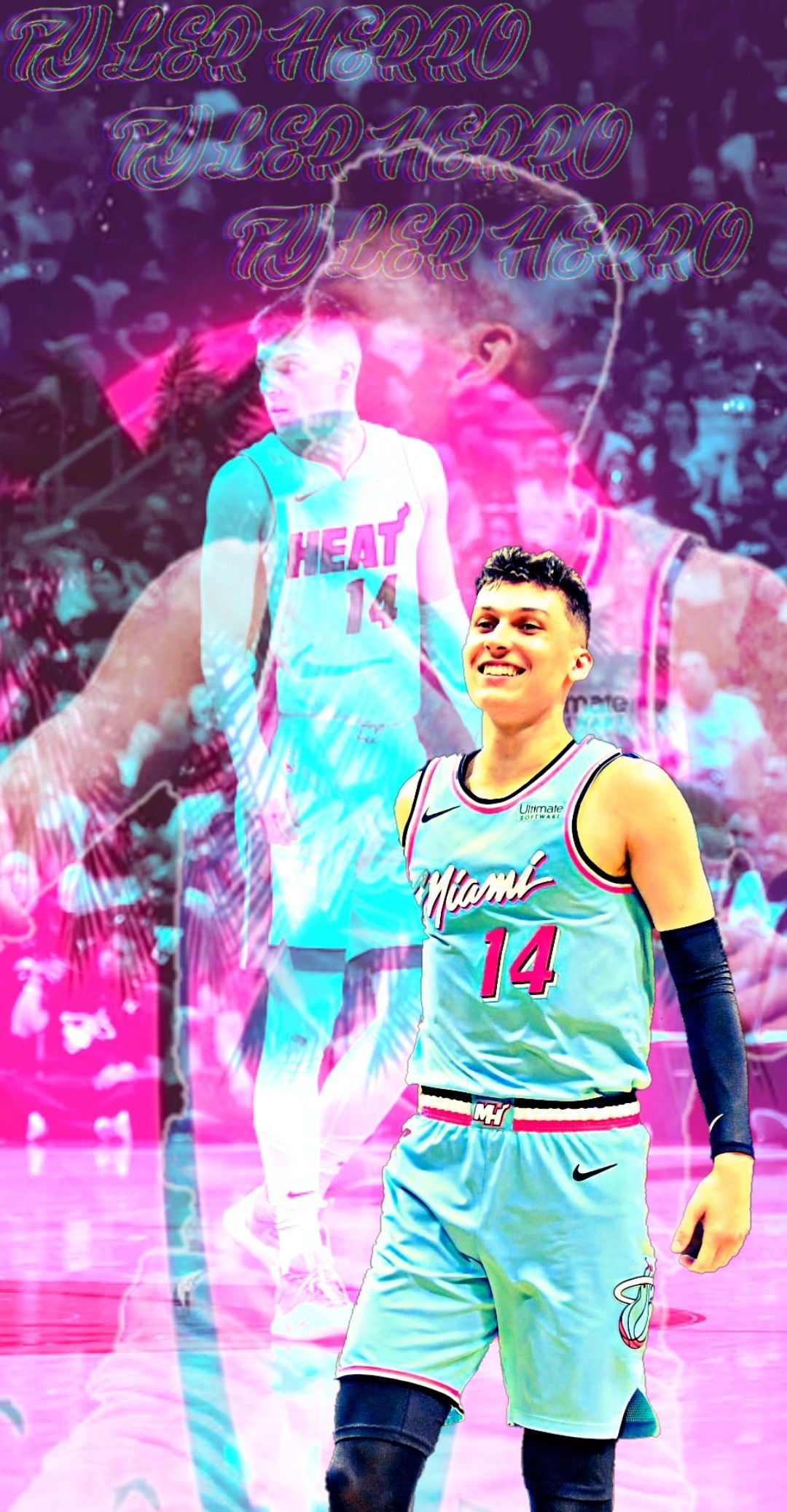 Tyler Herro 1 In 2020 Basketball Players Nba Nba Players Nba Wallpapers