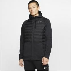 Photo of Nike Therma winterfester Trainings-Hoodie mit durchgehendem Reißverschluss für Herren – Schwarz Nike