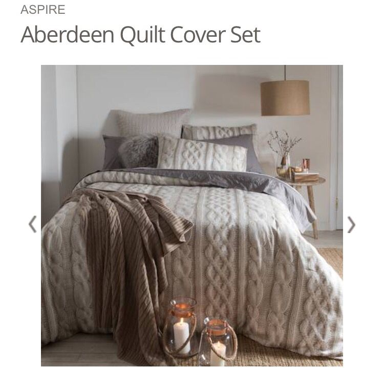 23 Charming Beige Living Room Design Ideas To Brighten Up: ASPIRE Aberdeen Quilt Cover Set