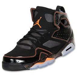 watch baa00 e77bc Men s Jordan Flight Club 91 Basketball Shoes   FinishLine.com   Black Bright  Citrus Dark Grey