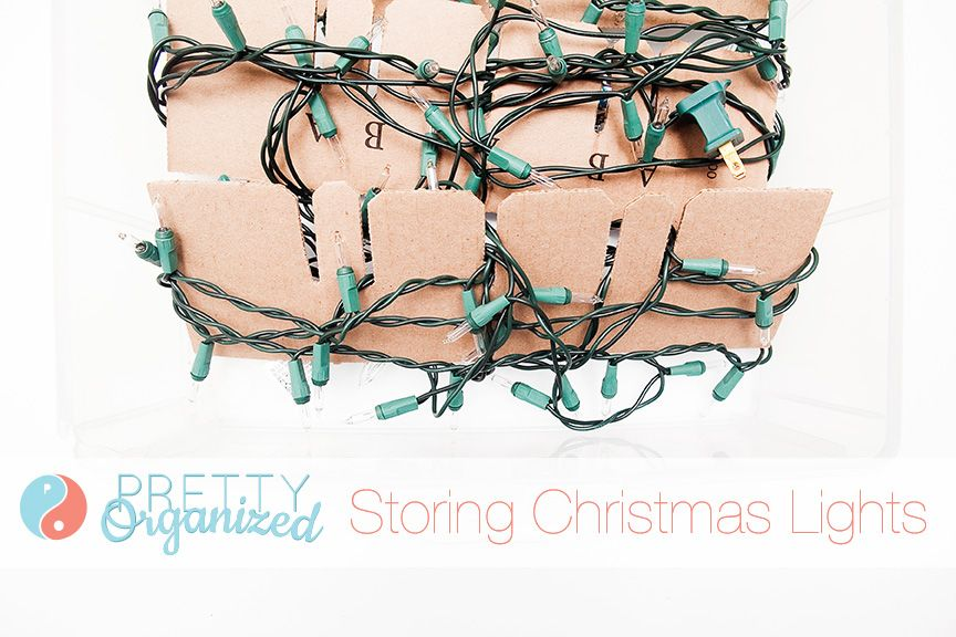 how to store christmas lights so they wont get tangled holiday organize