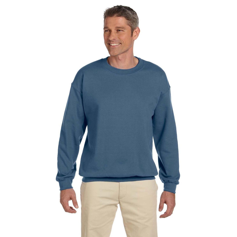 Gildan 50/50 Men's Crew-Neck Indigo Sweater   Products   Pinterest ...