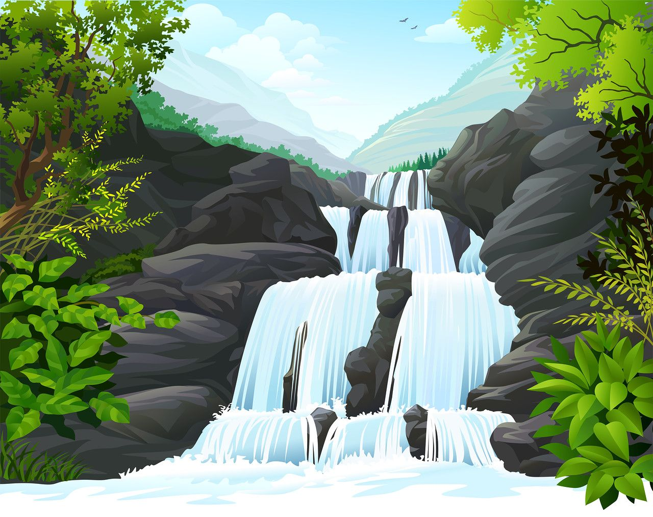 пейзажи с водой, рекой, озером