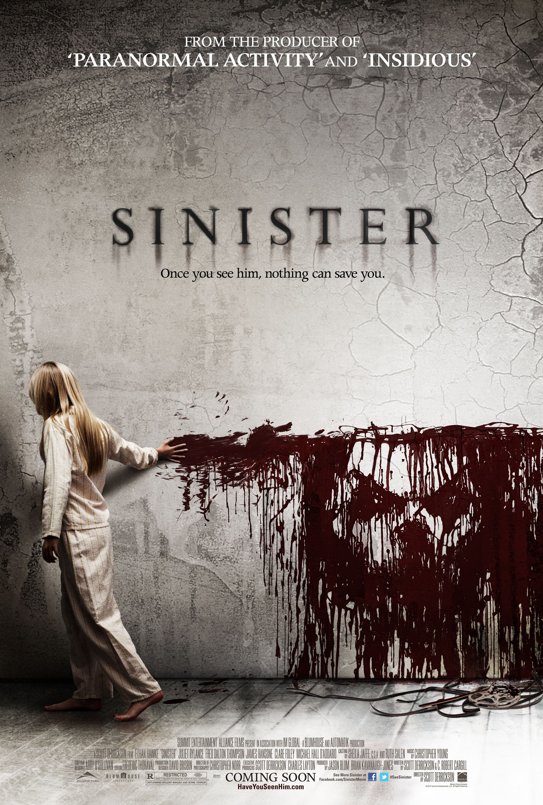 Sinister 2012 Movie Trailer Photo Poster Ethan Hawke Met