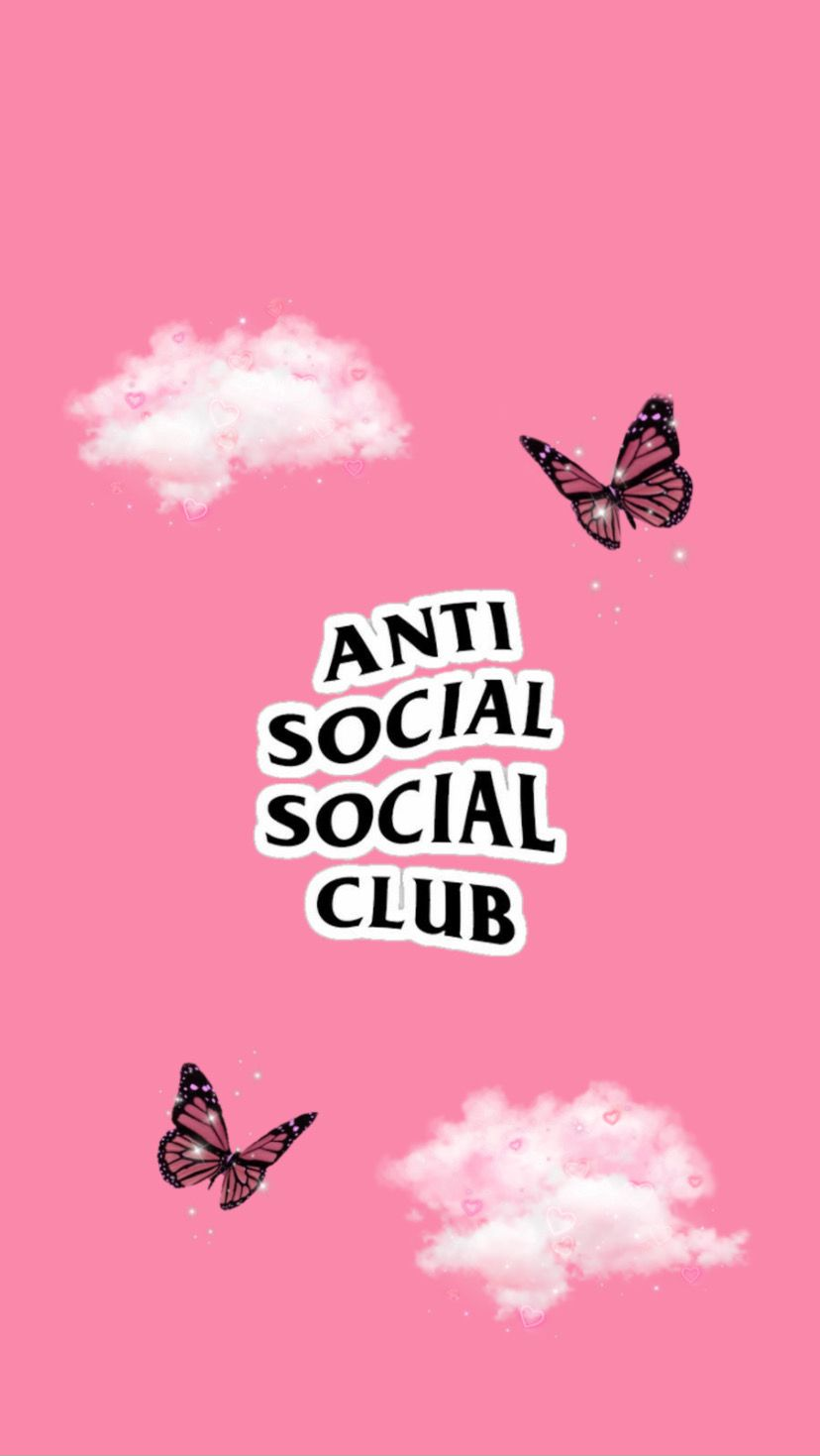 Pin By Brenda Guzman On Aes Anti Social Pink Retro Wallpaper Anti Social Social Club