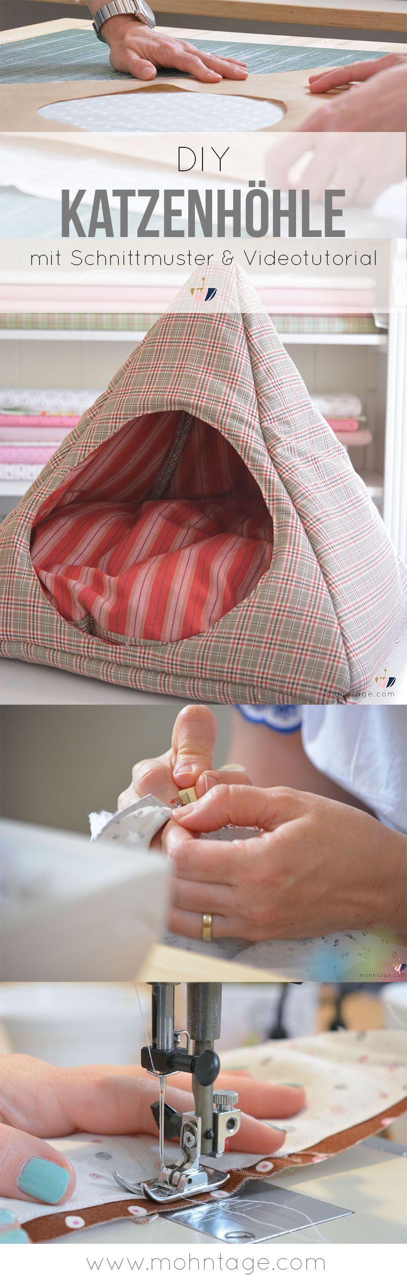 katzenhöhle selber machen | nähen | pinterest | sewing, diy und cats