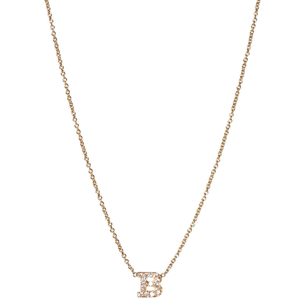 Zoë Chicco 14K Tiny Heart Initial Pendant Necklace 3weQ0WXnN1