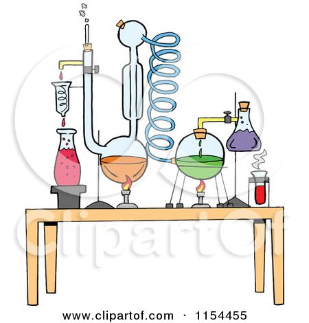 cartoon of a chemistry set in a science lab royalty free vector rh pinterest com Chemistry Reactions Clip Art Chemistry Lab Clip Art