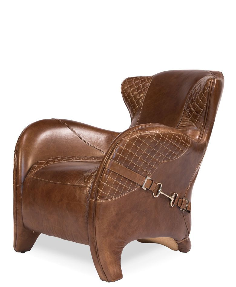 Details About Set Of 2 Club Chair Italian Saddle Leather