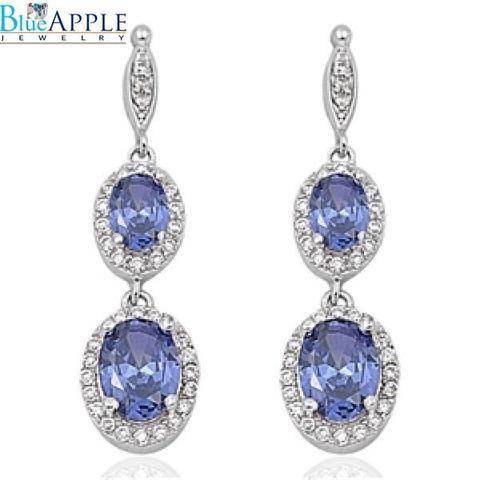 f510322ac Bride_Earrings, bridesmaid, Drop_Dangle, Drop_Earrings, Earrings,  Fashion_Earrings, Jewelry, Long_Earrings, Oval_Earrings, Round_Diamond_CZ,  Russian_CZ, ...