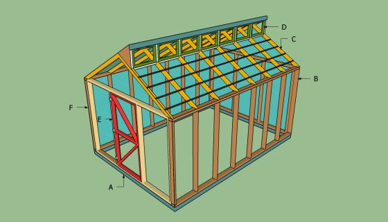 14 X 24 Shed Plans Free Sheds Wood Greenhouse Plans