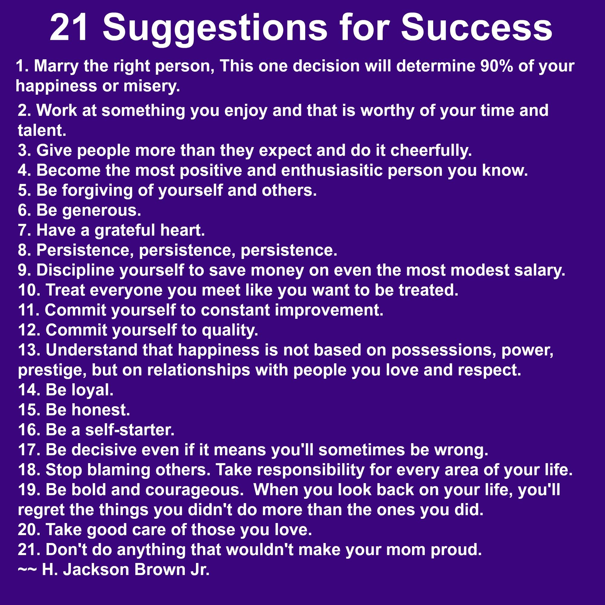 21 suggestions for success how many do you connect with