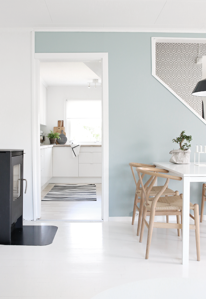 bright airy stylizimo blog interior k che pinterest wandfarbe esszimmer und k che. Black Bedroom Furniture Sets. Home Design Ideas