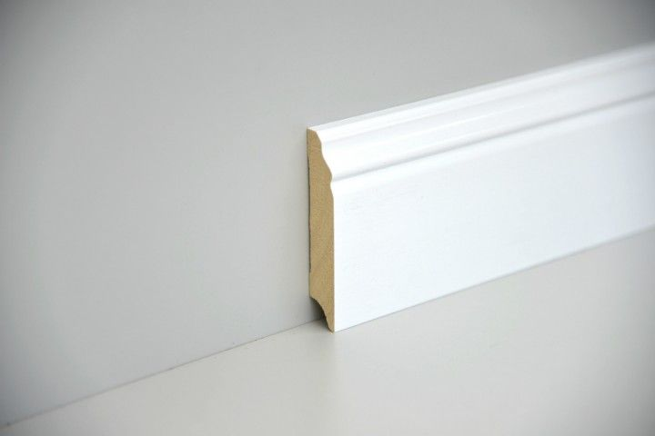Sockelleiste Massiv Weiss Lackiert 95mm Profiliert Sockelleisten Sockelleisten Holz Weiss