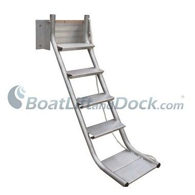 Aluminum Side Mounted Dock Stair Ladder Dock Ladder Stair Ladder Boat Dock