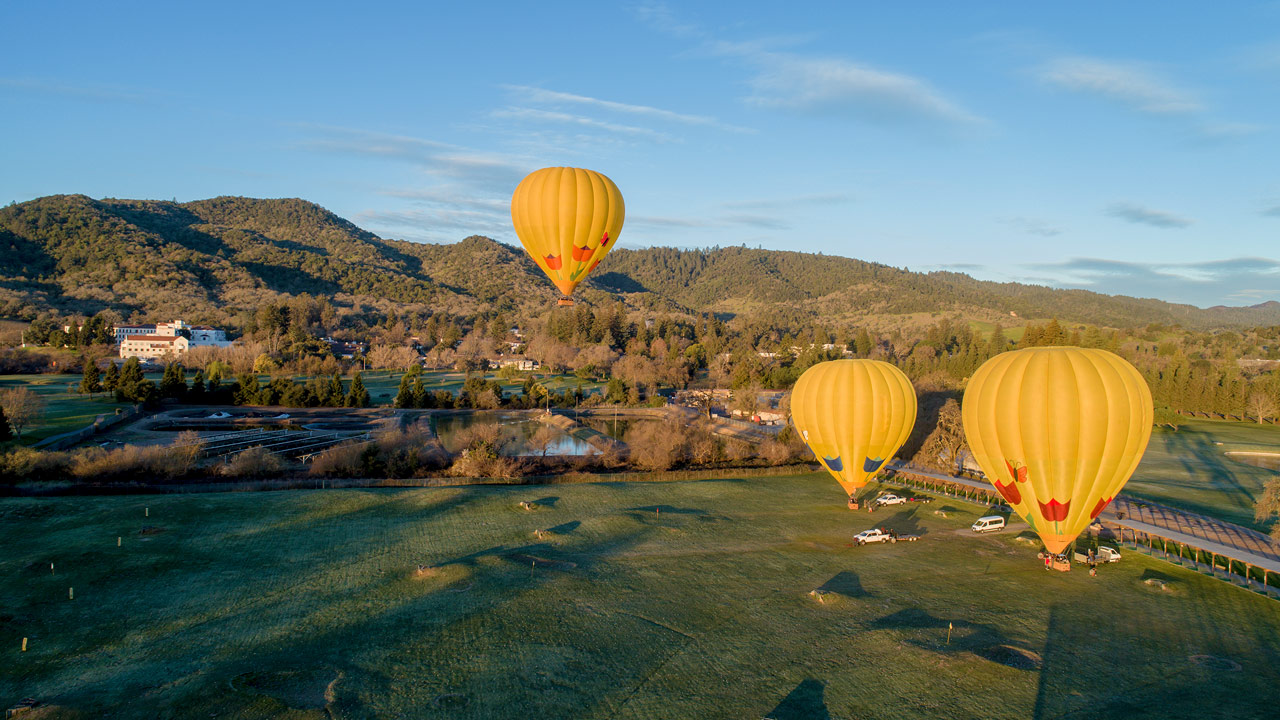 The best balloon ride in Napa California Hot air balloon