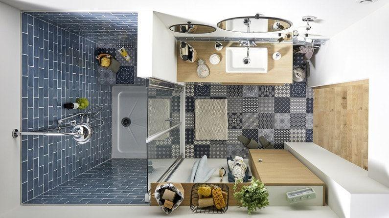 plan de salle de bains de 3 m²  mini salle de bain salle