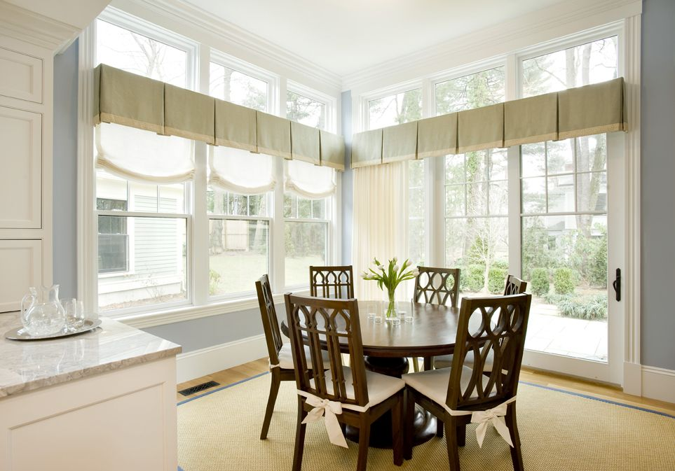 Box Pleated Valance Kitchen Linen Drapes Relaxed Roman Shade Prepossessing Dining Room Valances Design Inspiration