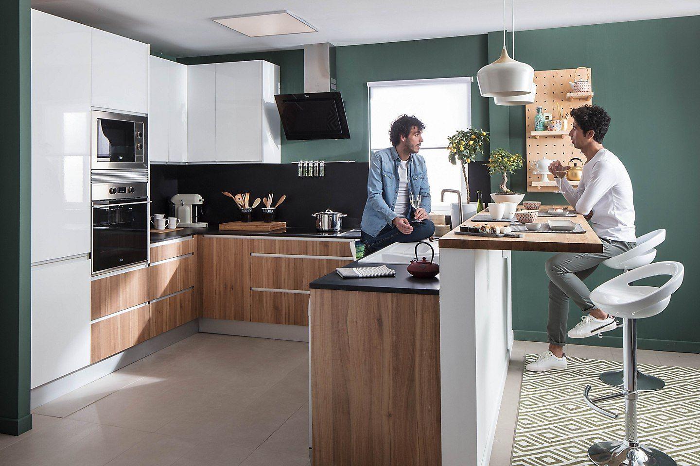 Encuentra Tu Cocina Ideal Leroy Merlin Barras De Cocina Encimeras De Cocina Cocina Integrada En Salon