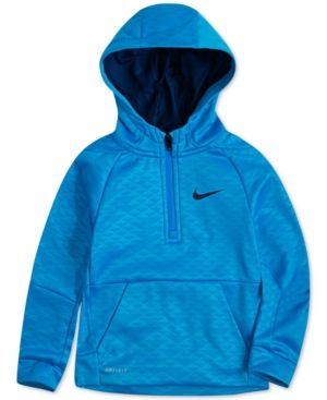 e9354bcdfefb Nike Little Boys Therma-fit Half-Zip Pullover Hoodie - Blue 7 ...
