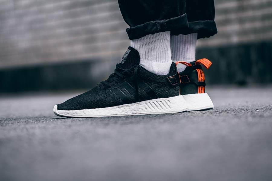 big sale a3f22 e16c2 Adidas NMDR2 Core Black  Future Harvest Credit  43einhalb Adidas NMD  Sneakers