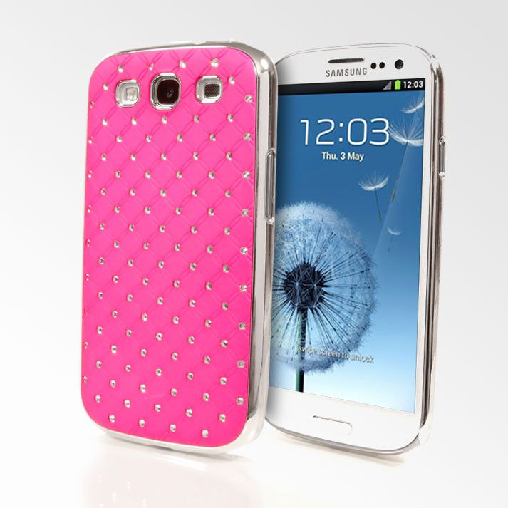 Cute Chanel Style Tufted Case with Rhinestones for Samsung Galaxy ...