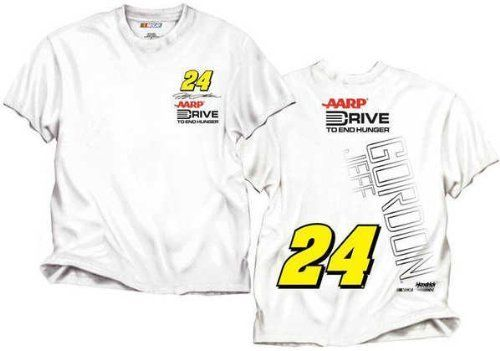 Jeff Gordon CFS NASCAR Spring 2012 Drive To End Hunger White Flag Tee by RacingGifts. $26.00
