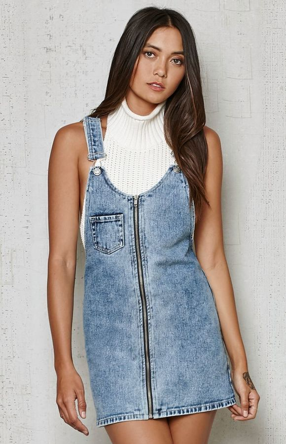 c37c44edc3 PacSun Overall Denim Dress