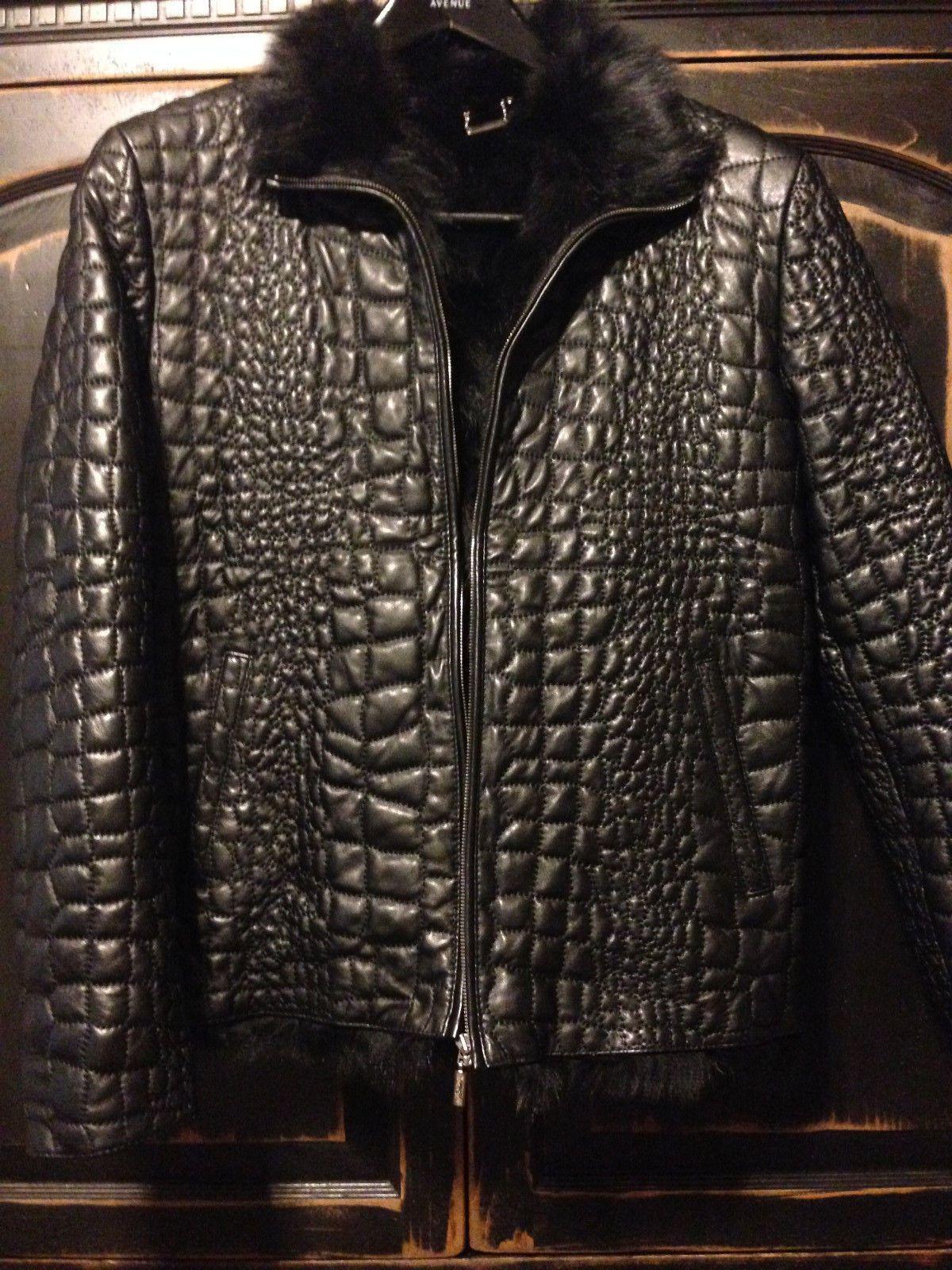 bc306dacbd NWT  12995 Brioni Crocodile Stitched Leather With FUR Lining XL 54 44 42  NEW