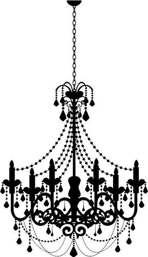 Old Fashioned Candle Chandelier Wall Stickers Wall Art