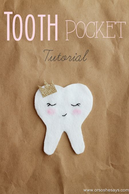 Tooth Fairy Ideas - Creating a Tooth Pouch (she: Sierra) #toothfairyideas