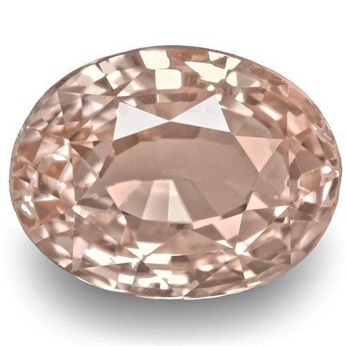1.98-Carat Pastel Orangish Pink Padparadscha Sapphire (GRS), 7.95 x 6.06 mm