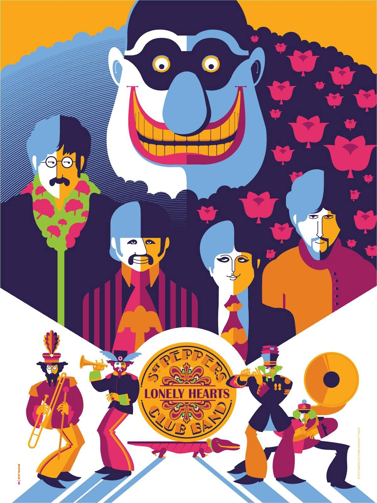Обои The beatles, sgt. peppers lonely hearts club band, yellow submarine. Музыка foto 7