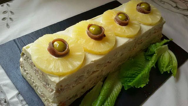 Huele Bien 7 Recetas Con Pan De Molde Pastel De Piña Receta De Pastel Frio Pasteles Salados