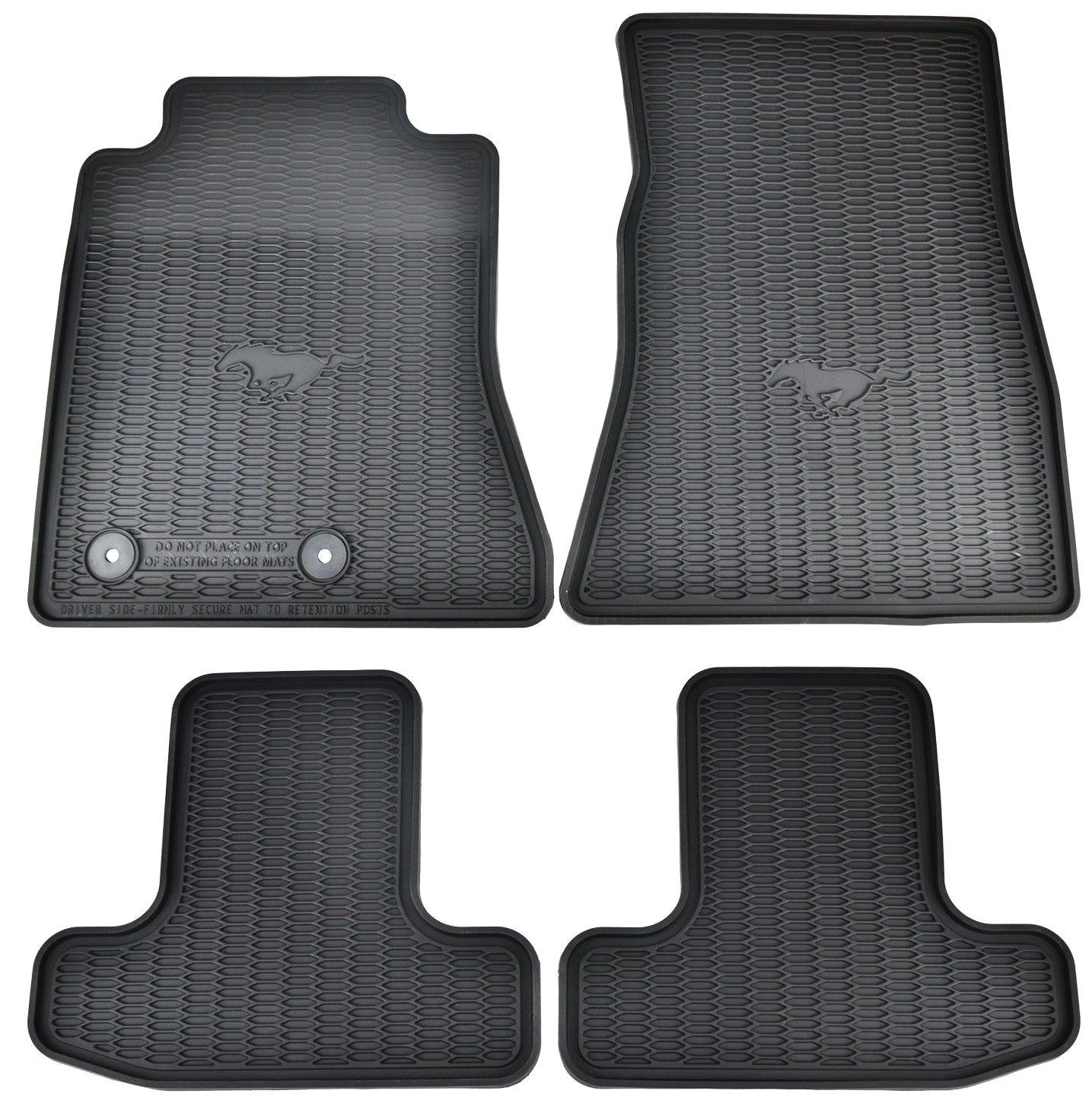 Ford Oem Factory Stock 2015 2016 Black Mustang Pony Horse All Weather Vinyl Floor Mats Front And Rear Read More At The Image Lin Black Mustang Mustang Ford