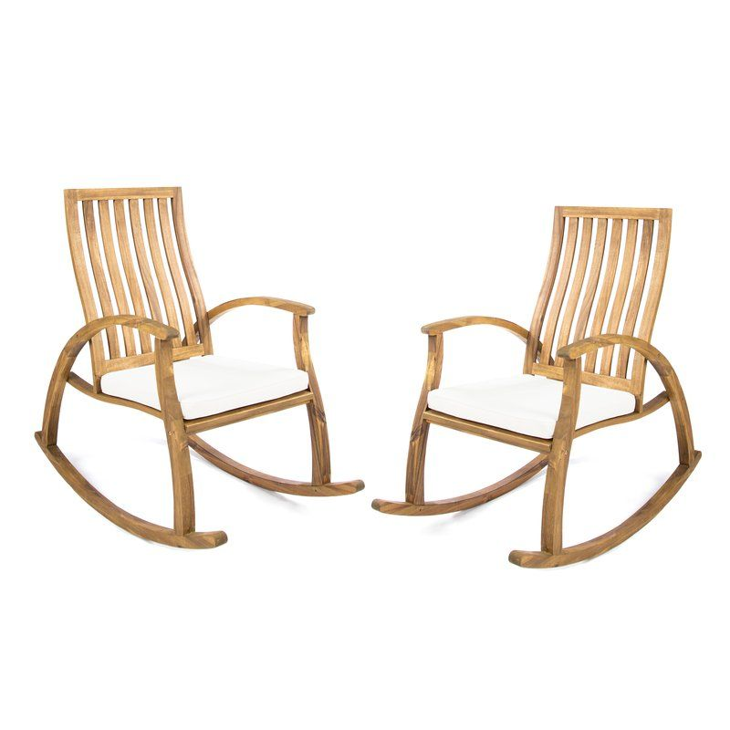 Morais Outdoor Rocking Chair With Cushions Chaise A Bascule Rocking Chair Bascule