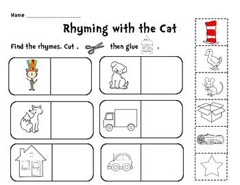 Rhyming with the Cat Cut and Paste Activity | Teaching Ideas ...