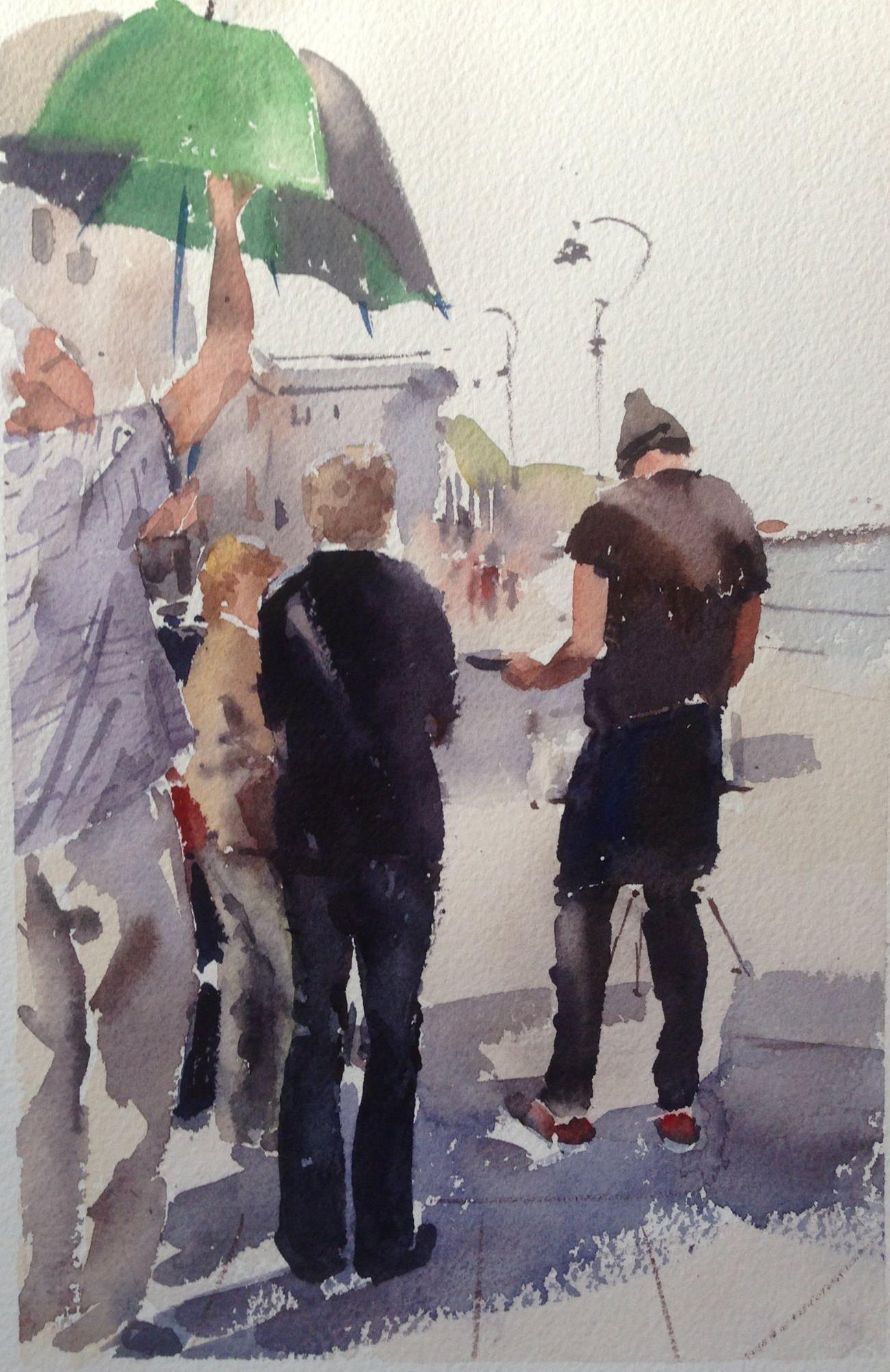 Watercolor artist magazine palm coast fl - Galina Gomzina Alvaro Castagnet Workshop In England