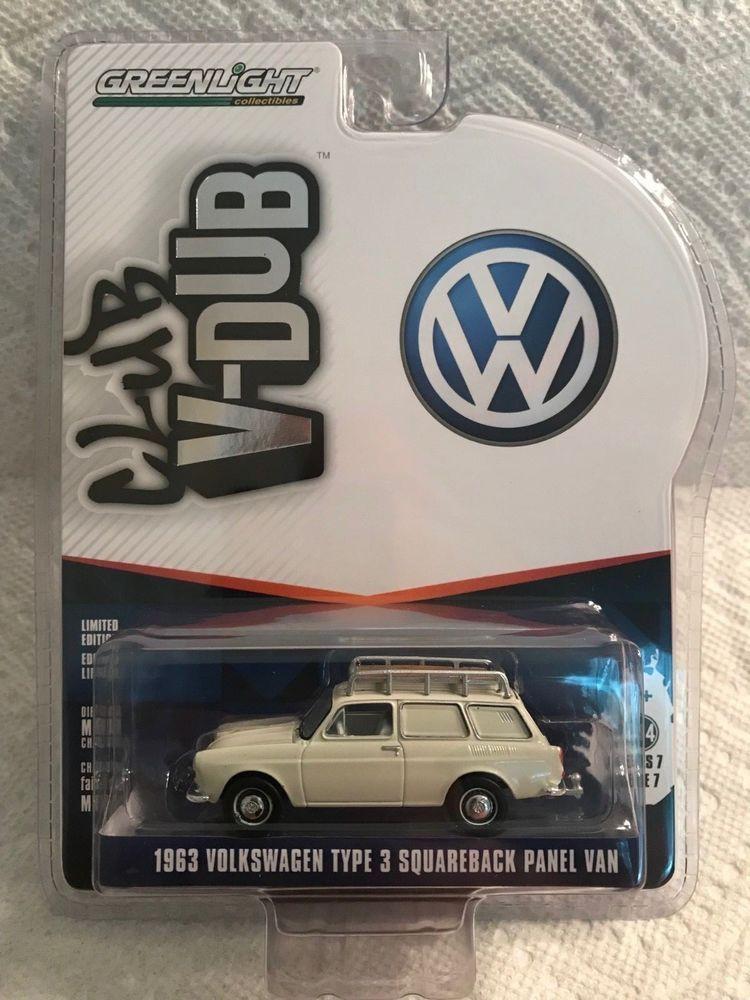 1 64 Greenlight Club Vee Dub Series 7 1963 Volkswagen Type 3 Squareback Panel