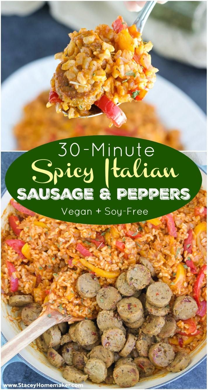 Spicy Italian Sausage And Peppers Recipe Vegan