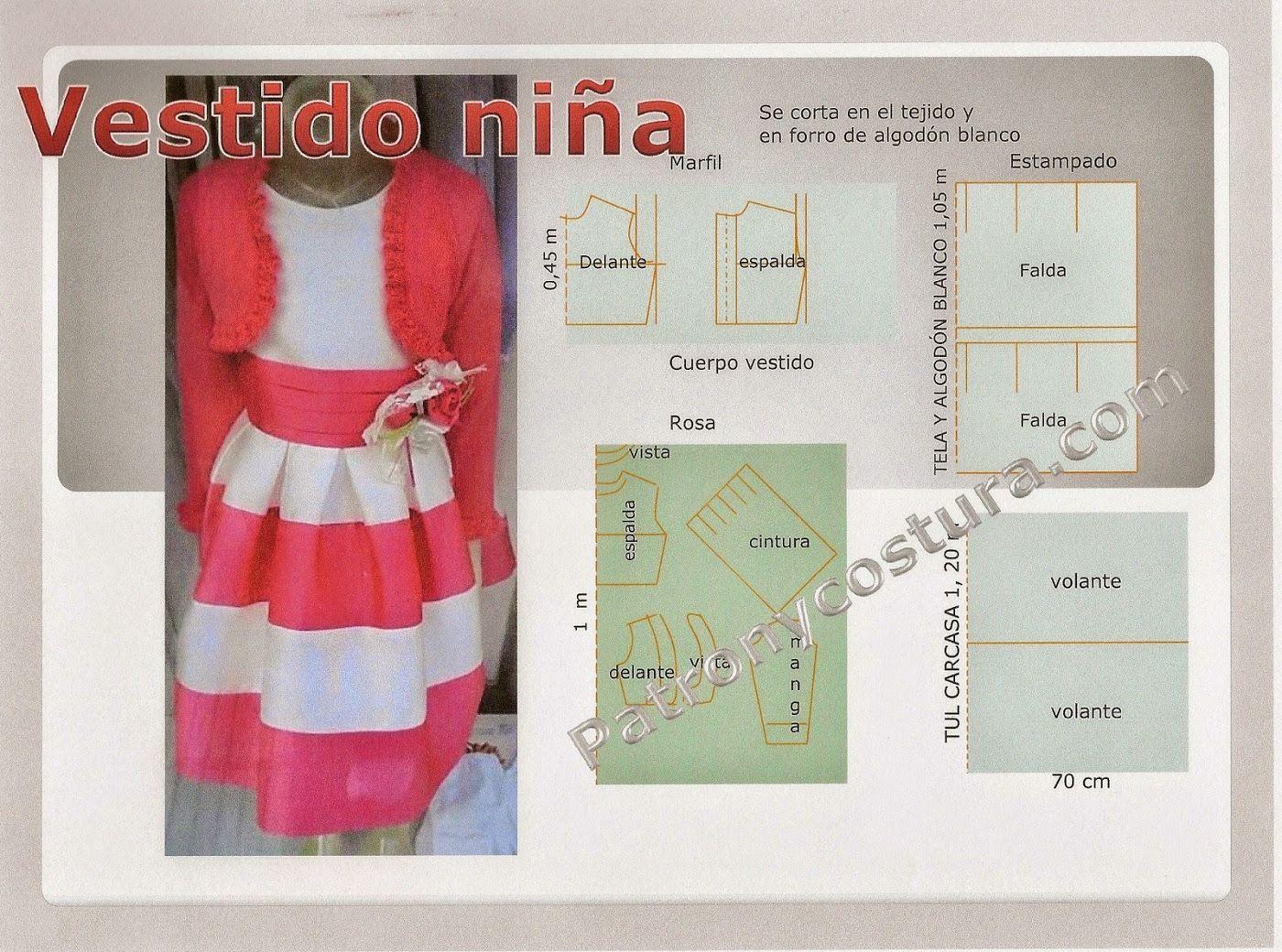 Imagen | Patrones de corte | Pinterest | Vestidos para niñas, Diy ...
