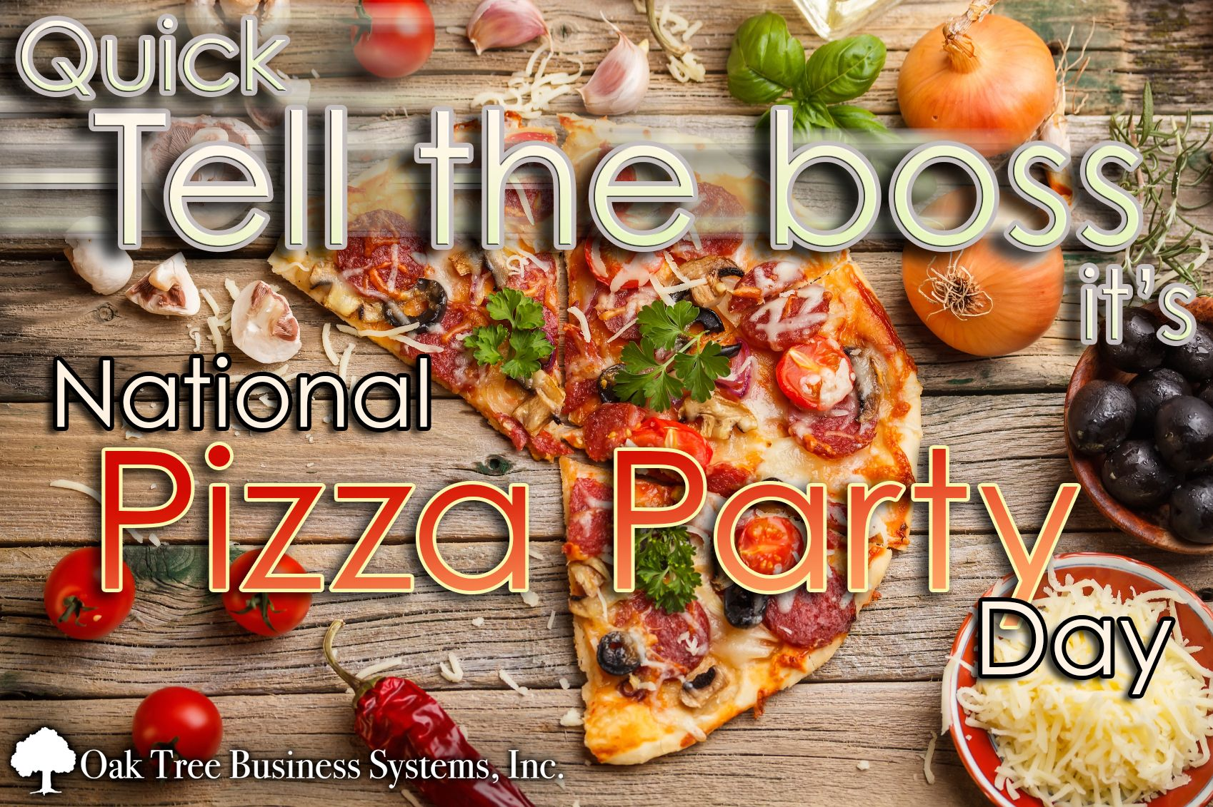Who is having a #PizzaPartyDay? Share your love for pizza and ...