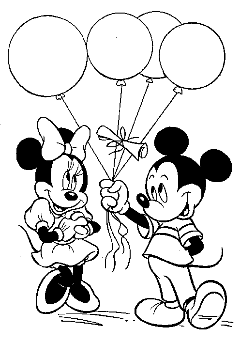 Mickey Mouse Balloons To Give Minnie Coloring Pages Mickey Mouse Coloring Pages Kid Disney Coloring Pages Mickey Coloring Pages Minnie Mouse Coloring Pages