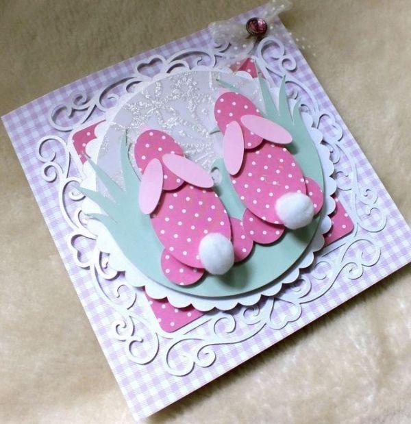 creativeEastercardsideasdecoratingEasterpinksweetwithtail – Handmade Easter Cards Ideas
