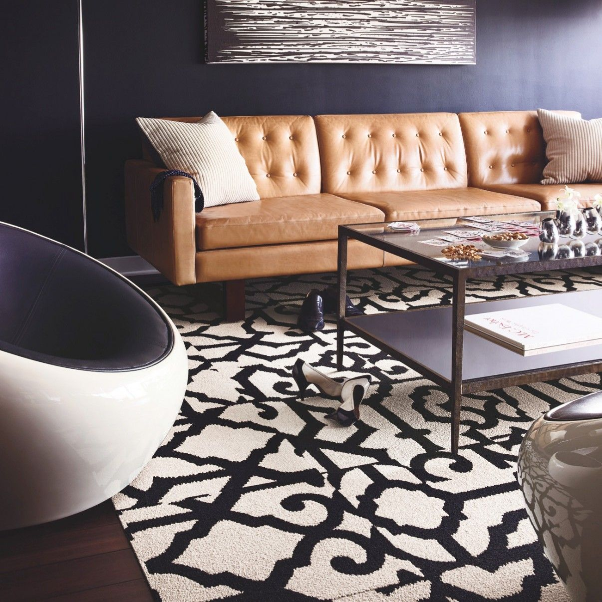 Best Black Gray Walls W Cool Carpet Tiles Was Thinking Silver 640 x 480