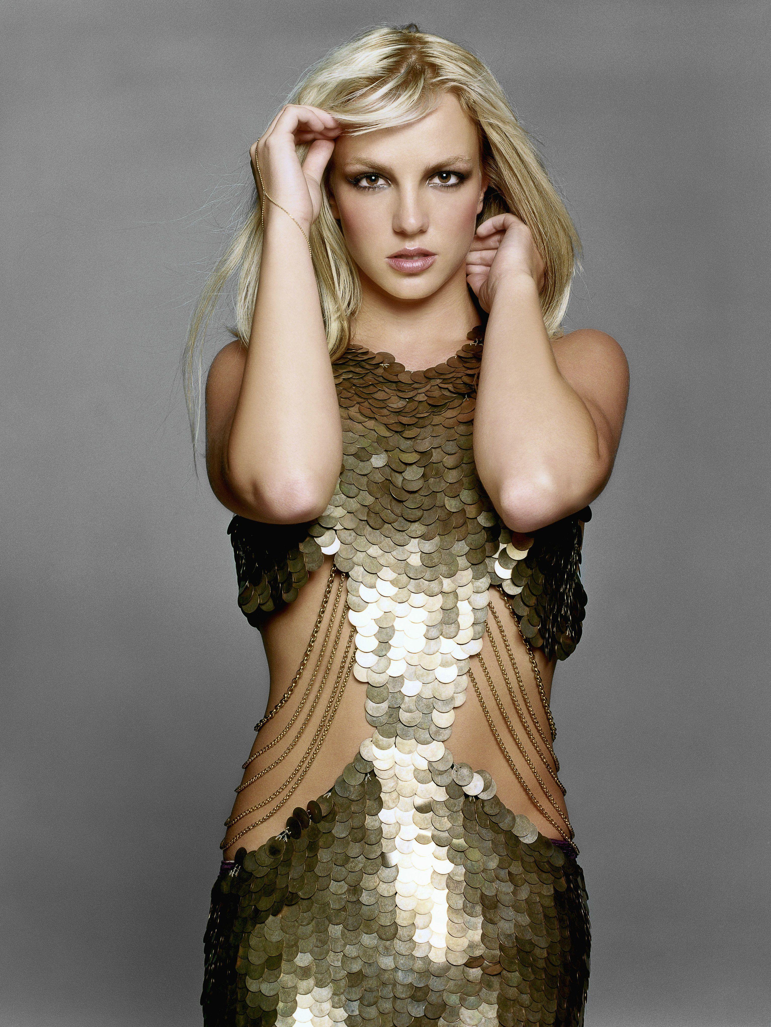 Britney Spears Gold Dress