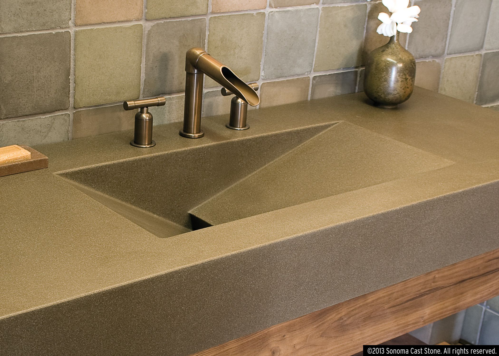 Nice Our Most Versatile Design, Ramp Sinks Slope To Order! Front, Back, Side